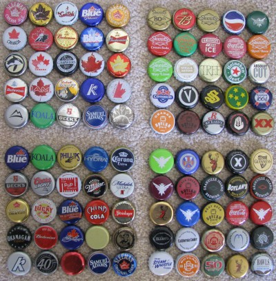 polsson 39 s garage sale 100 different metal bottle caps