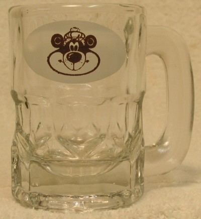 A&W Glass Mug, Root Bear, 3.5 oz, 1983