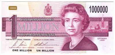 Canada 1 Million Dollar Bill Novelty