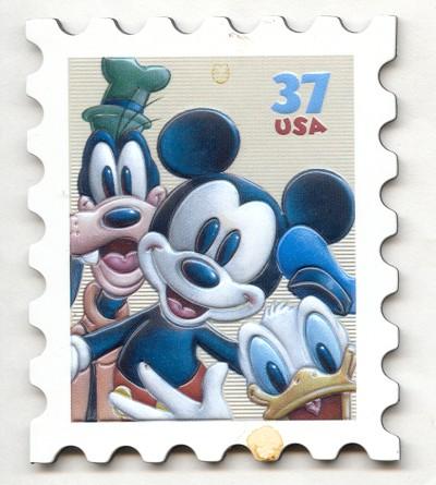 USA 37c Mickey Mouse Stamp Fridge Magnet