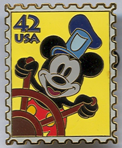 USA 42 Cent Disney Steamboat Mickey Stamp Pin